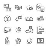 Modern outline style money icons collection. Premium quality symbols and sign web logo collection. Pack modern infographic logo and pictogram. Simple finance Stock Photos