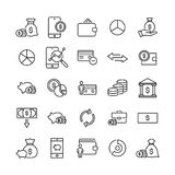 Modern outline style money icons collection. Premium quality symbols and sign web logo collection. Pack modern infographic logo and pictogram. Simple finance Royalty Free Stock Photo