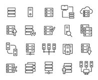 Modern outline style server icons collection. Premium quality symbols and sign web logo collection. Pack modern infographic logo and pictogram. Simple database Stock Photography