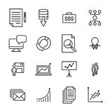 Modern outline style teamwork icons collection. Stock Photography