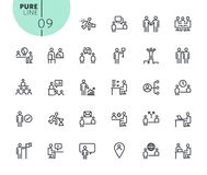 Set of icons for business and marketing. Modern outline web icons collection for web and app design and development. Premium quality vector illustration of thin Royalty Free Stock Image
