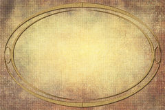 Modern Oval Frame on Background With Texture Stock Photography