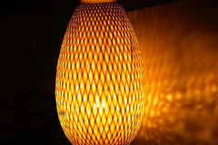 Modern oval orange lamp Royalty Free Stock Photo