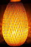 Modern oval orange lamp Royalty Free Stock Photography
