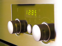 Modern oven controls. A close-up of the controls of a modern oven Royalty Free Stock Photography