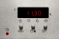 Modern oven display Royalty Free Stock Image