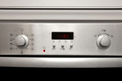 Modern oven - front details Royalty Free Stock Photo