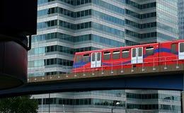 Modern Overland Travel Through City Stock Images