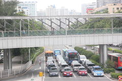 Modern overpasses in shenzhen,china,Asia. The flyovers have gradually become an important part of the urban landscape and feature building in modern cities Stock Image