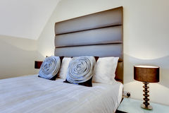 Modern oversize headboard Stock Photos
