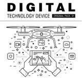 Modern packe för digital teknologi Arkivbilder