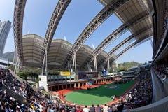 Modern Paddock in Sha Tin Racecourse, Hong Kong Royalty Free Stock Images
