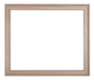 Modern painted wooden picture frame Stock Images