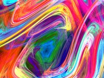 Modern Painting. Colorful abstract patterns in the style of modern art Royalty Free Stock Image