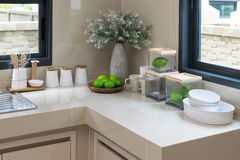 Modern pantry with utensil Stock Images