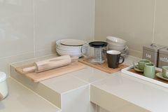 Modern pantry with utensils Stock Images