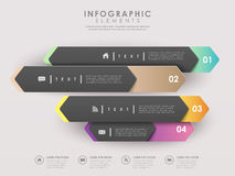 Modern paper arrow banners template infographic Royalty Free Stock Photos