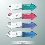 Modern paper arrow style options banner. Modern paper arrow style infographic options banner. Vector illustration. can be used for workflow layout, diagram, step Stock Illustration