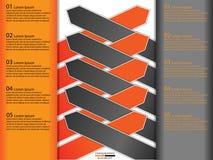 Modern paper business infographics Stock Photos