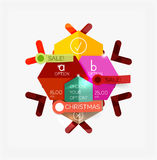 Modern paper Christmas stickers Royalty Free Stock Photos