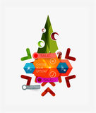 Modern paper Christmas stickers Stock Photography