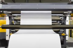 modern paper cutting machine stock photography