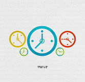 Modern paper design time concept Royalty Free Stock Photography