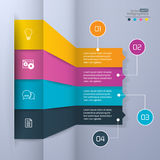 Modern paper infographics Royalty Free Stock Images