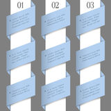 Modern paper numbered banners Royalty Free Stock Images