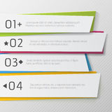 Modern paper numbered banners, color Design Stock Image