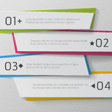 Modern paper numbered banners, color Design Stock Images