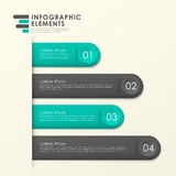 Modern paper texture bookmark infographic elements. Template Royalty Free Stock Photos