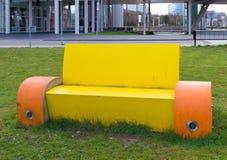 Modern park bench Stock Photos