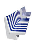 Modern park benches Royalty Free Stock Photo