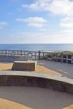 Modern Park Benches in Laguna Beach Stock Photo
