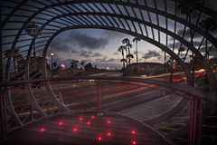 Modern Park. A composite/HDR image of Tongva park in Santa Monica, California Royalty Free Stock Photography