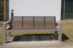 modern park för bänk Royaltyfri Bild