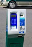 Modern Parking Meter. Modern Hi-tech Parking Meter that uses both coins and credit/debit cards. Screen is blank so you can add your own message Stock Image