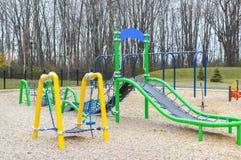 modern parklekplats för barn Royaltyfria Bilder
