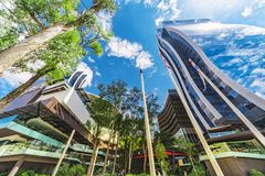 The modern part of Asuncion with its twin towers where a shopping mall is housed. Royalty Free Stock Photography