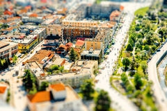 Modern part of Berat city Stock Image