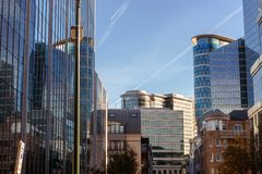 The modern part of city centre in Brussels Royalty Free Stock Photos
