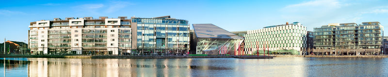 Modern part of Dublin Docklands or Silicon Docks Royalty Free Stock Photo