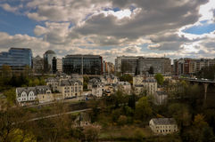 Modern Part of Luxembourg City Royalty Free Stock Photography