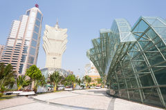 Modern part of Macau Stock Images