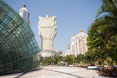 Modern part of Macau Royalty Free Stock Photo
