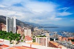 Modern part of Monaco city Royalty Free Stock Photo