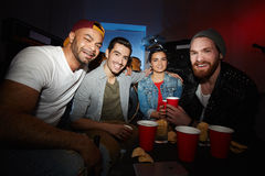 Modern Party People Portrait Stock Image