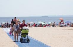 Modern Pass To The Beach Stock Image