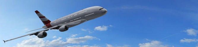 modern passagerare för flygplan Arkivbilder